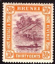 Brunei 1924 purple/orange 30c multi-script mint SG76