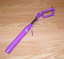 Unbranded / Generic Purple Wired Monopod Extendable Selfie Stick With Flex Head