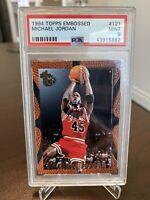 Michael Jordan PSA 9 Topps 1994 Embossed #121 Card - Bulls - LOW POP OF 11