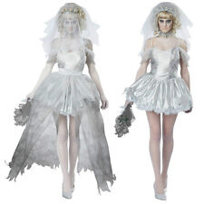 Horror Ladies Womens Vampire Bride Halloween Costume Fancy Party Dress ladcos16