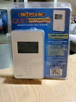 QUIET WARMTH Non Programmable Digital Radiant Heat Thermostat w/ Floor Sensor