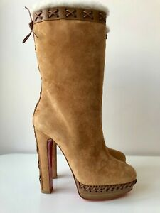 Christian Louboutin Step N Roll 140 Suede Boots Size EU 39 US 9