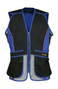 Percussion Skeet Vest Blue Waistcoat Gilet Clay Pigeon Country Hunting Shooting