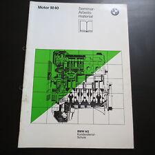 BMW E30 318i Schulungsbroschüre Motor M40 Stand 1987