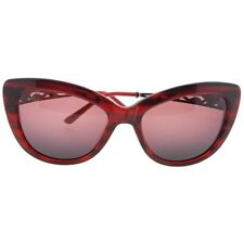 f6ecb60f89745 Judith Leiber JL5008-06-58 Cat Eye Women s Red Frame Pink Lens Sunglasses  NWT