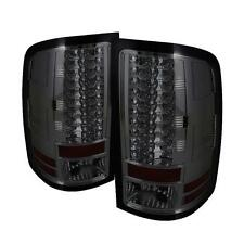 FITS 07.5-14 GMC SIERRA SPYDER SMOKED LED TAIL LIGHTS..