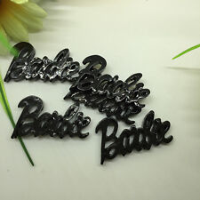 30Pcs black  barbie Kawaii Flatback Scrapbooking Resin Cabochons Craft