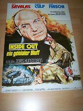 INSIDE OUT - EIN GENIALER BLUFF - Kinoplakat A1 ´76 - TELLY SAVALAS James Mason