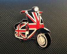 MOD SCOOTER LAMBRETTA UNION JACK ENAMEL PIN BADGE GIFT (PB24) BIGGER THAN OTHERS
