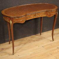 Scrittoio a fagiolo mobile tavolo scrivania in legno noce stile antico salotto