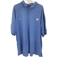 Nike North Carolina Tar Heels UNC Mens 2XL XXL Blue Polo Shirt NCAA