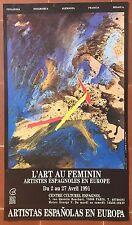 Affiche Expo L'ART AU FEMININ Artistes Espagnoles en Europe VIRGINIA CASHERAS *