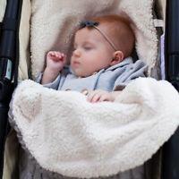 Nursery Baby Stroller Sleepsack Swaddle Blanket Wrap Thickened Warm Sleeping Bag