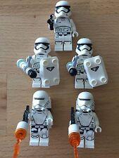Lego Star Wars 5 first order figuras 3 Stormtrooper y 2 flametrooper como nuevo