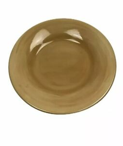 "Pottery Barn Dinner 12"" Plate Sausalito Round Microwave Dishwasher Safe Mustard"