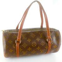 LOUIS VUITTON PAPILLON 26 Old Model Hand Bag Purse Monogram M51386 Brown