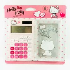 Cute Hello Kitty Calculator KT-100 Pink School Office 12 Digits Cover Travel New