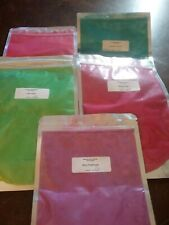 Lot of 5 American Soap Supplies 4oz. Mica Powders Sealed New  Assorted Colors