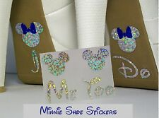 Wedding Shoe StickerS Disney Inspired Minnie and Mickey Mouse I Do Me Too