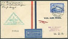Germany, 1930, Baltic Sea flight franked w/scarce C38