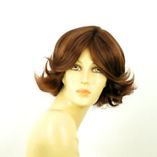 Perruque femme courte Châtain Cuivré Méché Blond Clair/rouge LISA 33H130