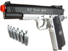 Airsoft Co2 Metal Pistol Gun 500 FPS WG 1911 Special Combat 2 Tone 601 CO2 PKG