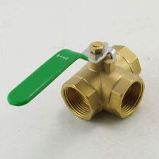 """2"""" inch BSPP Female T-Port Brass Ball Valve 3-Way  Connection x 1"""