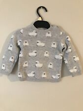 The White Company Baby Grey Sheep Jumper 3-6 Months