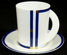 ROSENTHAL - 2tlg. Gedeck KAFFEEGEDECK Kaffeetasse Tasse - CUPOLA - LIEBHERR