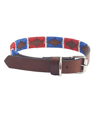 """Sam"" Polo Leather Dog Collar - Width 1"""