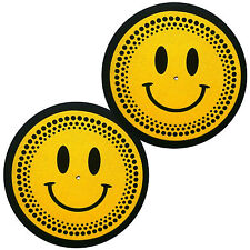 Feutrines Slipmats Technics Happy Face Smiley X1 DMC