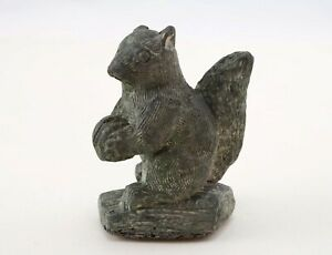 Vintage Squirrel Figurine The Wolf Sculptures A Wolf Original Hand Made Canada