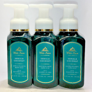 3 Vanilla Coconut Gentle Foaming Hand Soap Bath & Body Works 8.75 fl oz
