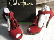 Cole Haan NANCY Nike Peep Toe Platform Shoes-Suede/Patent Zinfandel-6.5-NIB-$400