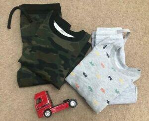 UK Seller H&M Baby Toddler Boys Tracksuit 2pcs Set Camouflage Tiger  1-8 Years