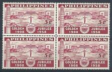 Philippines 1958 Sc# 643 University Golden Jubilee block 4 MNH