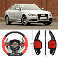 Carbon Fiber Gear DSG Steering Wheel Paddle Shifter Cover Fit For Audi A4 09-12