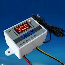 Controlador Digital Temperatura LED 10A Termóstato Control Switch Sonda 220V SA