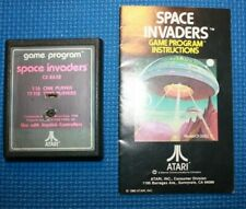 Atari 2600 Cart and Manual: Atari Space Invaders