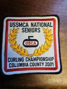 USSMCA National Seniors Curling Championship Patch  2001 Excellent condition