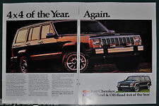 1988 JEEP CHEROKEE 2-page advertisement, large photo Jeep 4x4