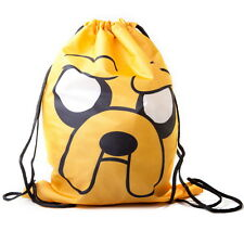 NEW OFFICIAL Adventure Time Finn and Jake Drawstring Gym PE Kit Shoe Sports Bag