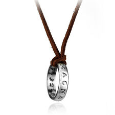 Hot Nathan Drake's Silver Ring Pendant Cord Chain Uncharted Collection Necklace