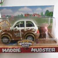 Chevron Cars Maddie Mudster Pig Finger Puppet 2004 Collectible New