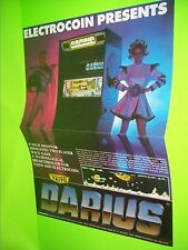 Taito DARIUS Original NOS 1987 Video Arcade Game Flyer Poster Size Electrocoin