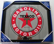 Texaco Gasoline motor oil gas printed mirror Sign Plate logo tag license picture
