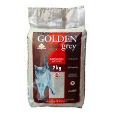 Golden Grey Katzenstreu 7kg - Bentonit Streu Einstreu Katzenklo Babypuder Katze