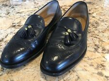 Gucci Vintage Men's Black Wingtip Dress Shoes With Tassels Size 41.5 M EUC