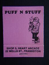 PUFF N STUFF SHOP 5 HEART ARCADE 22 WELLS FRANKSTON 7833461 PINK MATCHBOOK