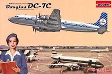 DOUGLAS DC-7 C  KLM (ROYAL DUTCH AIRLINES MARKINGS) 1/144 RODEN